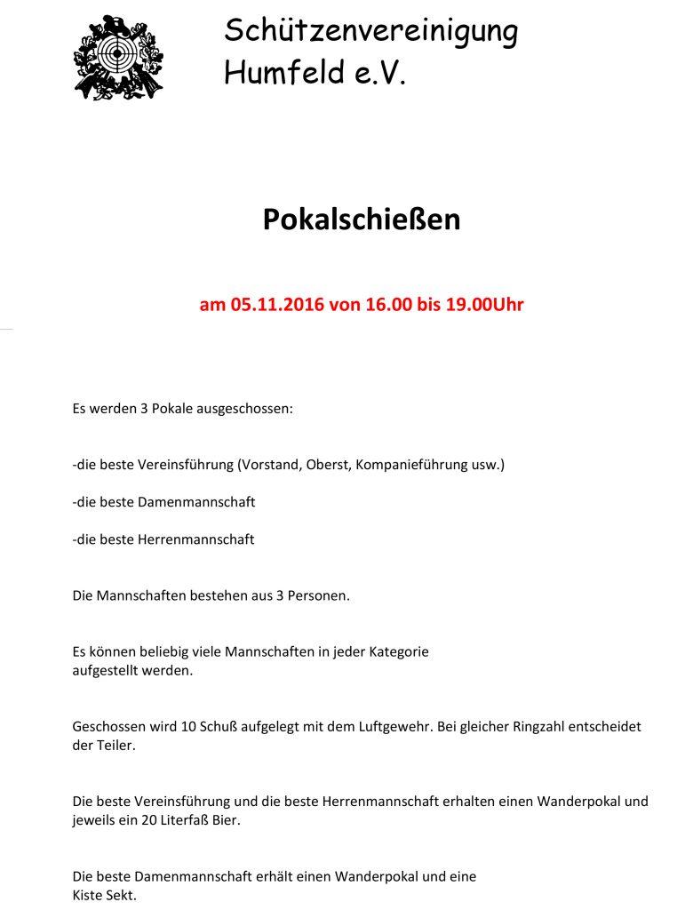 Teilnahmebedingungen Schützenvereine 2016